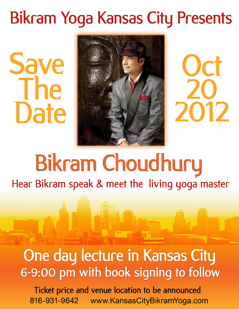 Bikram choudhury is coming to kansas city